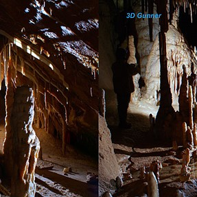 """Amazing Caves in 3D"" - cross-eyes"