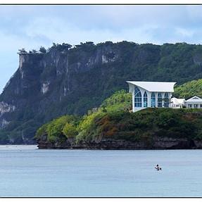 Tumon Bay, Guam, & Flower (2 images)