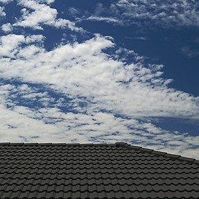 Roof and sky...