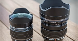 Olympus Pro 8mm and 7-14mm lenses