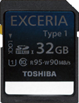 Toshiba announces Exceria range of fast SDHC cards