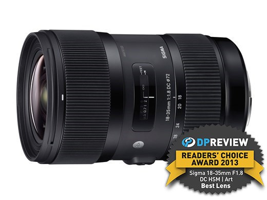 Best Lens of 2013 - Winner: Sigma 18-35mm F1.8 DC HSM | Art