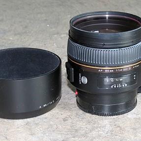 Minolta Maxxum 85mm f1.4 (D) lens