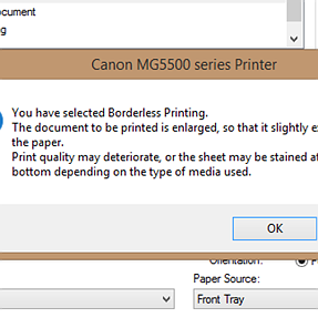 Canon Printer - Could the extra cropping by printer when printing borderless be avoided?