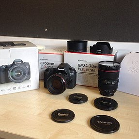 FS: Canon 6D, 50mm f/1.2l, 24-70mm f/2.8 II, Panasonic Leica 45mm Macro