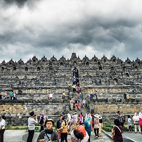 Images of the now threatened Borobodur