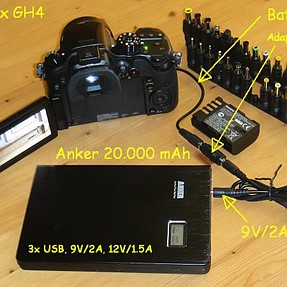 external power for GH4, GH3 .. or other