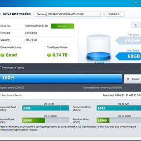 Samsung Magician Speed Test