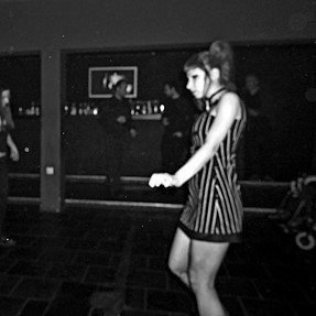 Girl dancing in the nightclub