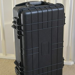 My New Inexpensive Hard Wheeled case (Peli type)