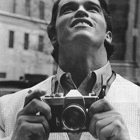 Arnie with his Pentax clone