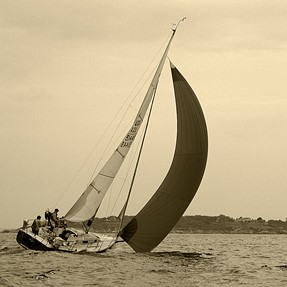 Racing off Bakers Island