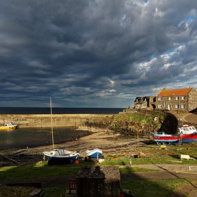 Northumbrian coast in evening light