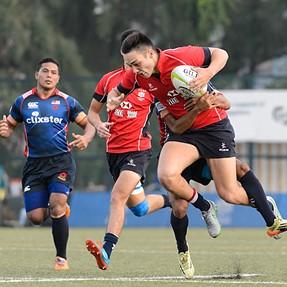 ARFU U20s 7 Series 2015 Men's Championship match Hong Kong 52:7 Malaysia