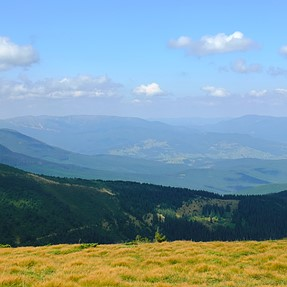 XS-1 The Carpathians from the highest point in Ukraine (2 km)