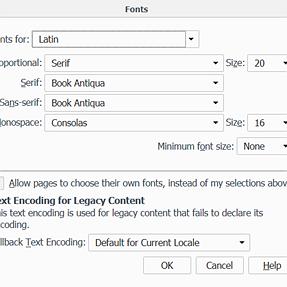 Firefox 41 change in Font behavior