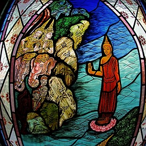 Tales of Buddha - A FishEye/Stained Glass Series