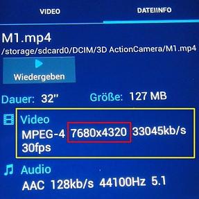 8K 3D video