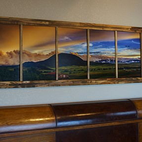 Reclaimed wood pano frame