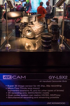The GY-LSX2 is a handheld 4K cameras featuring Micro Four Thirds lens mount