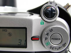 Top of camera controls (click for larger image)