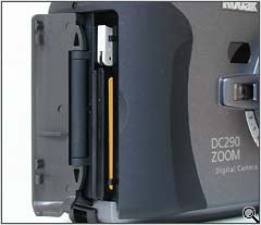 Compact Flash compartment (click for larger image)
