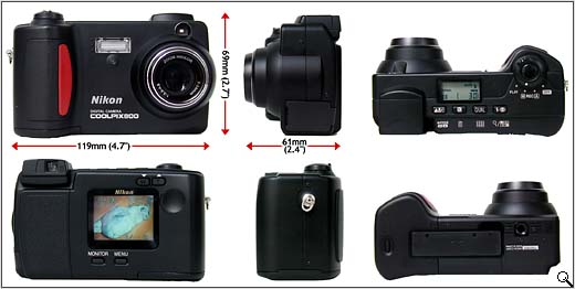 Nikon Coolpix 800 (all round view - click for larger image)