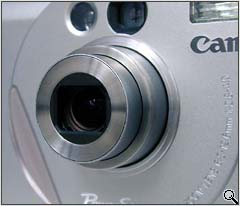 Canon S10 lens close-up (click for larger image)